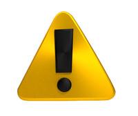 3d model alert symbol