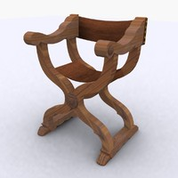 curule chair century 15th 3d max
