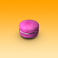 macarons 3d obj