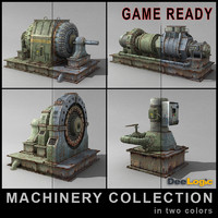 machinery ready engine 3d 3ds