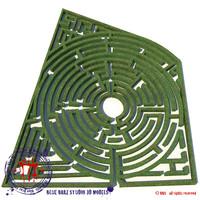 garden maze 3d c4d