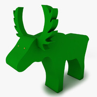 3d model decorative moose sponge