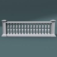 3d 3ds balustrade architectural