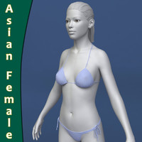3d model asian woman female body