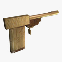 golden gun 3d model