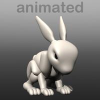 3d model robot bunny