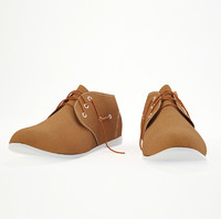 suede shoes 3d obj