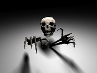 skull hands 3d model