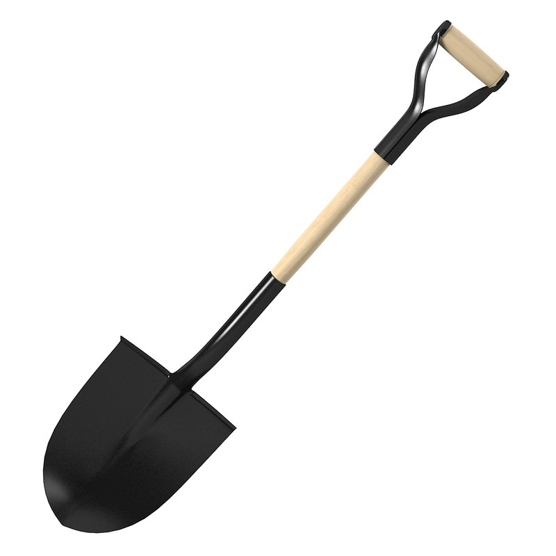 3d model spade for Gardening tools 3d model