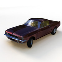 1965 muscle car 3d obj