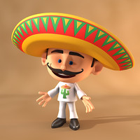 cartoon mexican 3d max