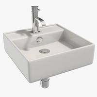 3d model bath sink