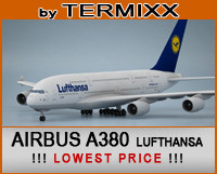 airplane airbus a380 lufthansa 3d model