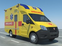 ambulance modelled 6 3d model
