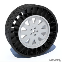 3ds max generic airless tire rim