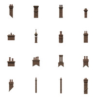 chimneys 3d fbx