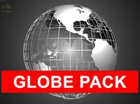 3d globe polygonal model