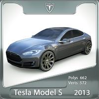 2013 tesla s 3d max
