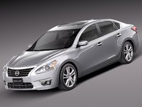 3ds max 2012 2013 sedan nissan altima