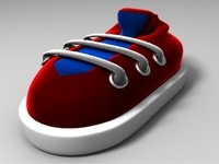 maya cartoon shoe