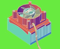 free cooler cpu 3d model