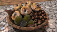 3d model of moldy fruit basket