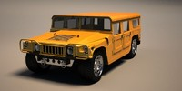 vehicle humvee military 3d max