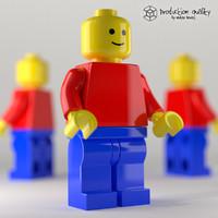 lego generic figure 3d max