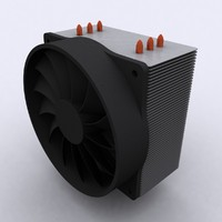 cpu cooler vertical heat 3ds
