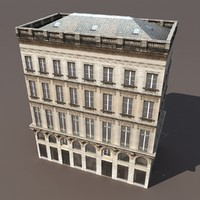 3d model building exterior modelled