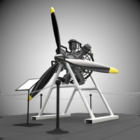 radial engine 3d c4d