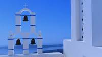 White church in Santorini