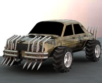 carmageddon monster car 3d model