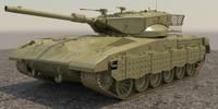 3d merkava 2014 tank ii model