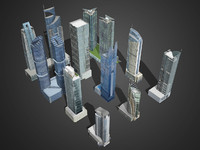 10 Tower building (Both Lowpoly and Highpoly)