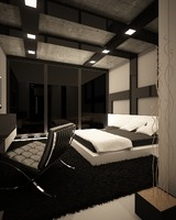 3ds max modern hotel room