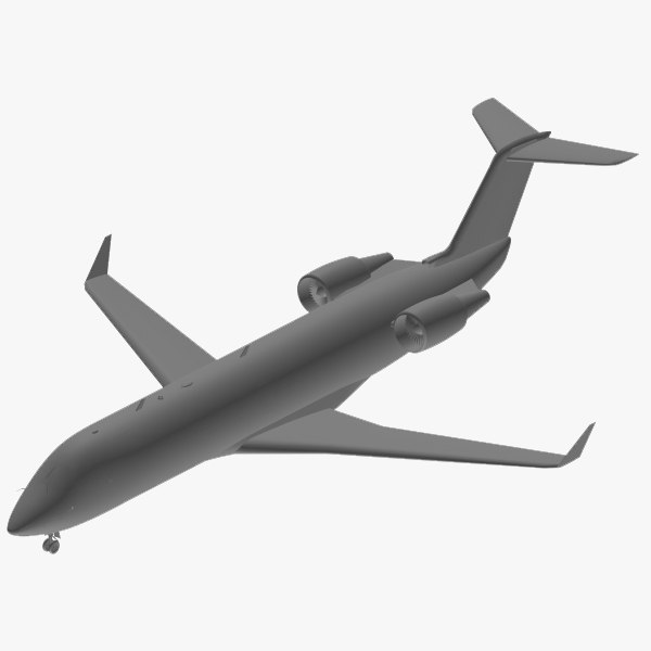 3d bombardier crj-200 delta connection model - CRJ-200 Delta Connection... by PedroFaut