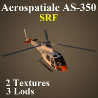 aerospatiale srf helicopter 3d model