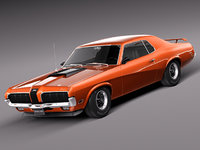 muscle car antique sport 3d model