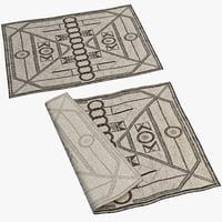 3d oriental rug 3 model