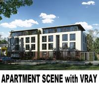 apartment scene 3d model
