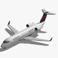 3d bombardier crj-200 delta connection model