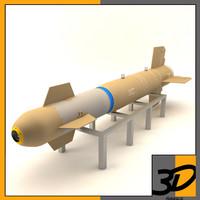 3d model bomb glide weapon