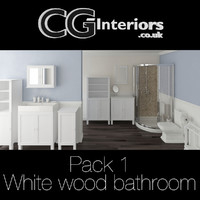 CG-Interiors - Pack 1 White wood bathroom