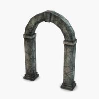 3d stone portal model