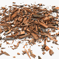 3d model wood debris