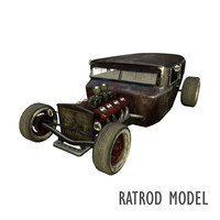 Fictional 1930s era ratrod car