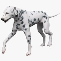3ds max dalmatian dog pose
