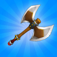 3d model of ready medieval axe