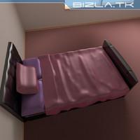 king bed tv 3d model